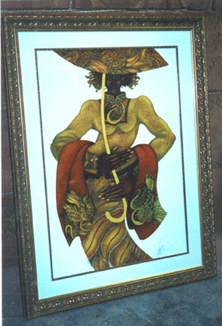 45quot SN Artist Charles Bibbs Title Yellow Umbrella Price 800.00